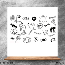 ZhuoAng Happy Halloween Clear Stamps/Silicone Transparent Seals for DIY scrapbooking photo album Stamps