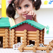 90/170Pcs Baby Wooden Toys For Kids Building Blocks Forest L