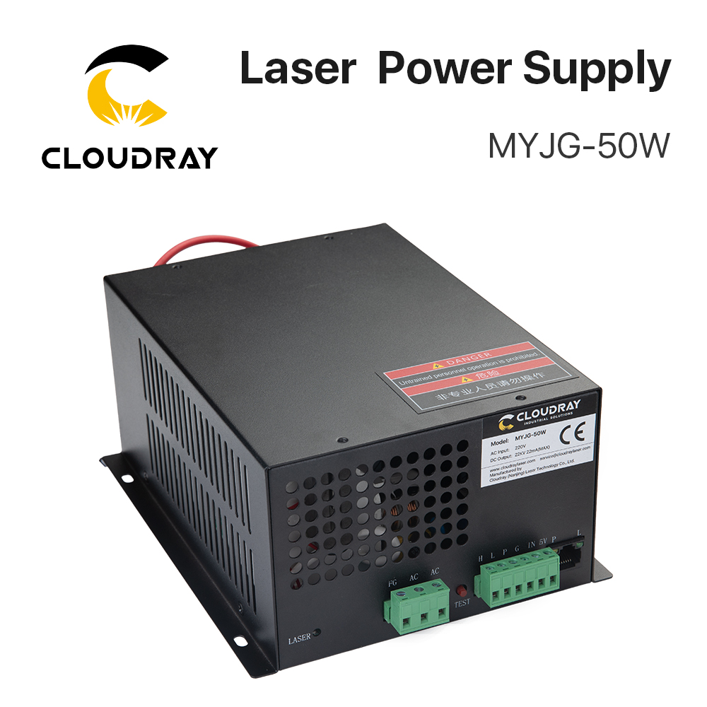 Alimentatore laser CO2 Cloudray 50W per tagliatrice per incisione laser CO2 categoria MYJG-50W