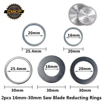 CMCP 2pcs 16mm 20mm 25.4mm 30mm Circular Saw Blade Reducting Rings Conversion Ring Cutting Disc Woodworking Tools Cutting Washer
