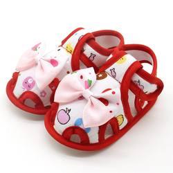 Милая обувь для новорожденных девочек; обувь для малышей с бантом и принтом в стиле принцессы; дышащая обувь для малышей 0-18 месяцев; # E