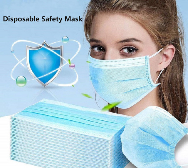 50pcs in stock,Disposable Thickened Masks,Disposable Earloops faceMasks ,3-Ply High Quality,Breathable Flu Hygiene Face Mask 1