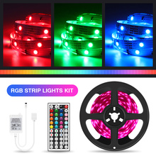 Dropshipping RGB LED Strip Light 5M 10M 15M 20M 5050 Ribbon LED Tape With IR Controller For Home Christmas Lights cheap Gleco CN(Origin) living room 50000 Switch Epistar SMD5050 30 LEDs Remote Control Fairy Lights LED Light Strip