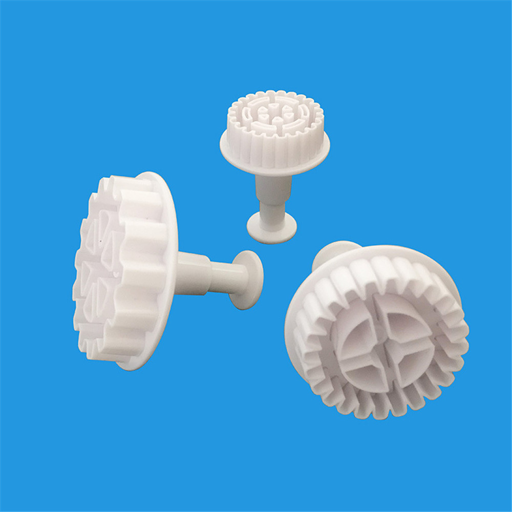 Gears Embosser Set Fondant Cutter Pastry Baking Mold Confectionery Cake Decorating Tools Wheel For Kitchen