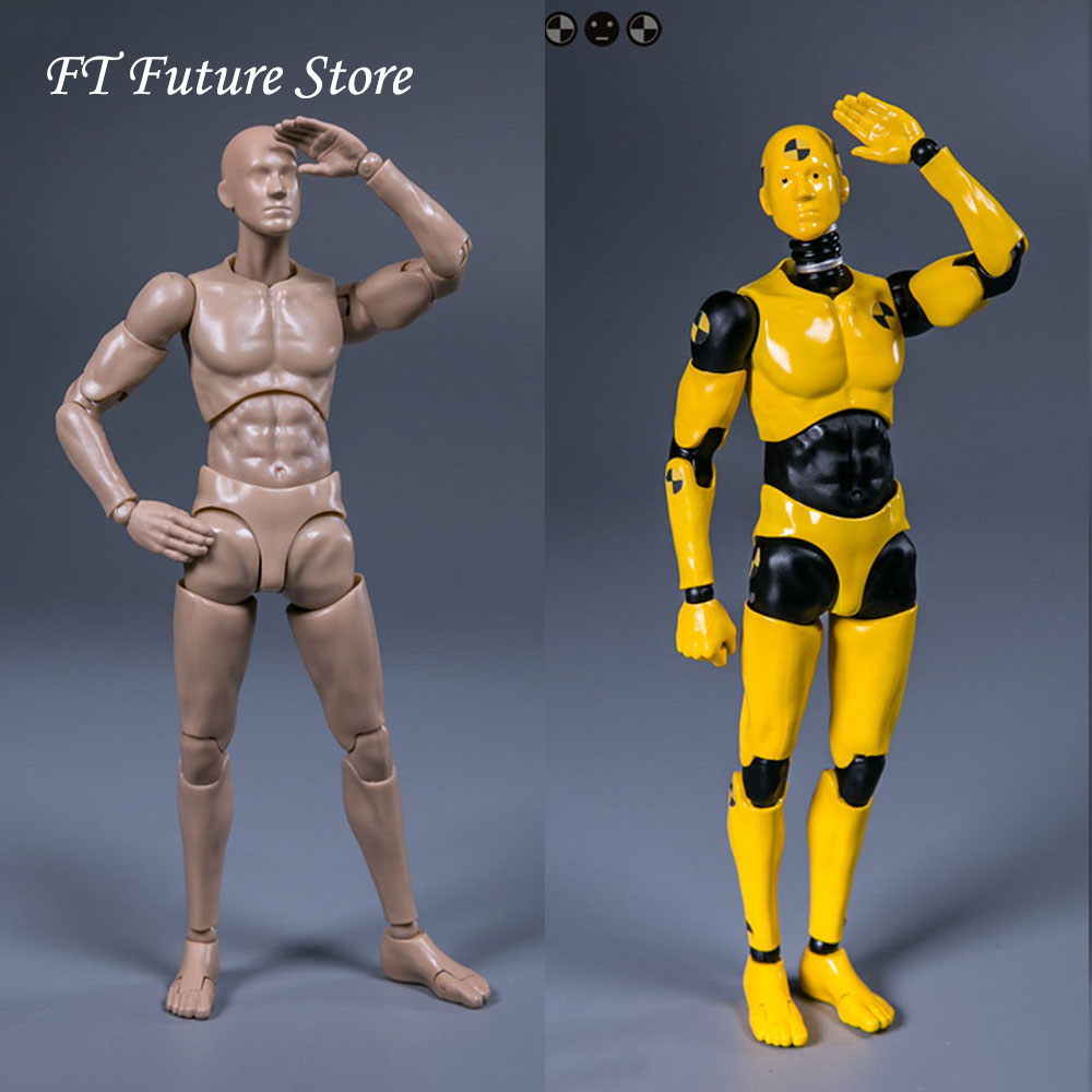 In Stock Collectible DAMTOYS 1/12 <font><b>Scale</b></font> DPS01/DPS02 Testman Crash Test Dummy 6