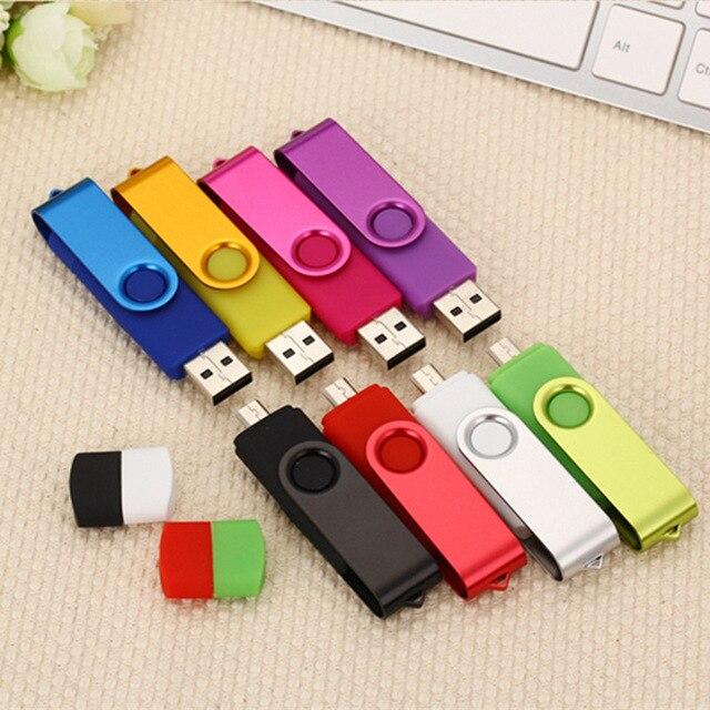 High Quality OTG USB Flash Drive Colorful Pen Drive 4GB 8GB 16GB USB 2.0 U Disk 32GB 64GB 128GB Memory Stick For Mobile Phone/PC