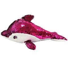 ; плюшевый дельфин с блестками; Мягкие плюшевые игрушки с реверсивными блестками; креативные подарки для детей и друзей