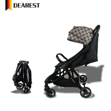 DEREST baby stroller light portable with fast-receiver car can sit reclining aluminum frame poussette все цены