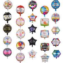 10 pçs 18 polegada espanhol feliz aniversário balões folha cumpleanos redonda ocidental hélio balões decorações de festa suprimentos