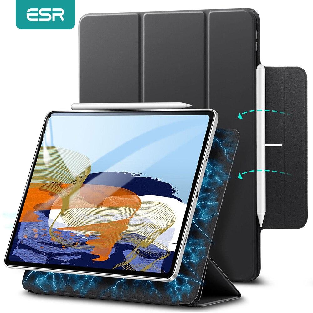 ESR-funda para iPad Pro 11, 12,9, 2021, rebote, Funda magnética seguro, triple, para iPad Pro 2021, 11, 12,9, a prueba de golpes