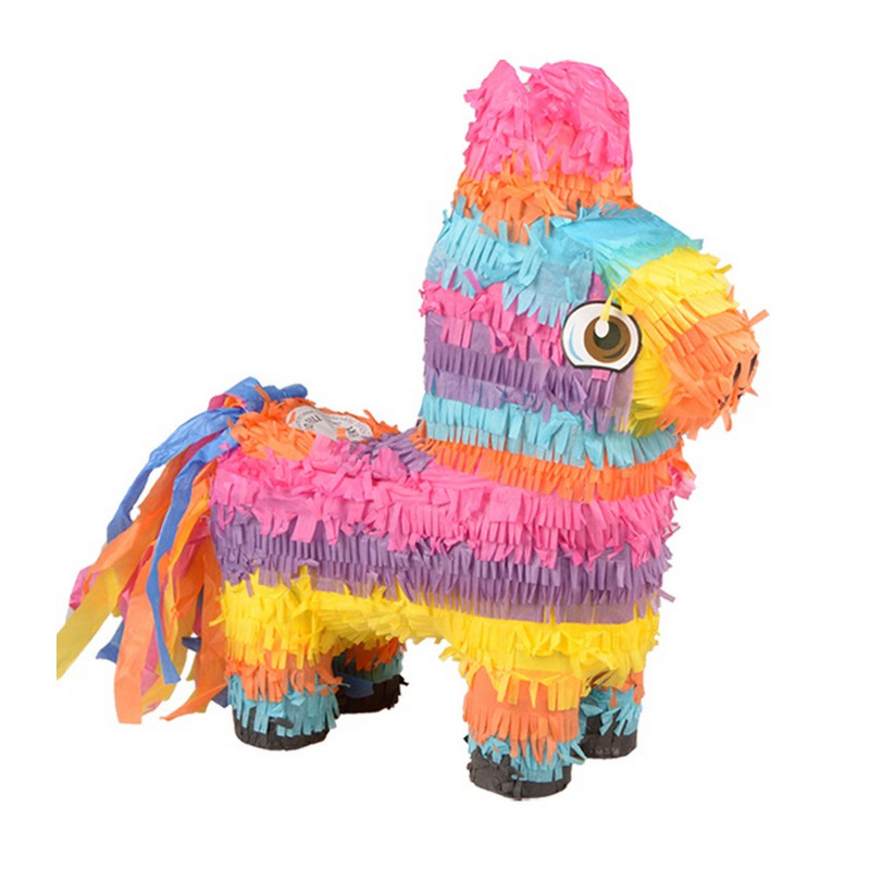 Cute Paper Folding Pinata Children Girls Boys Birthday Party Supplier Happy Birthday DIY Decoration Pinata Birthday Game