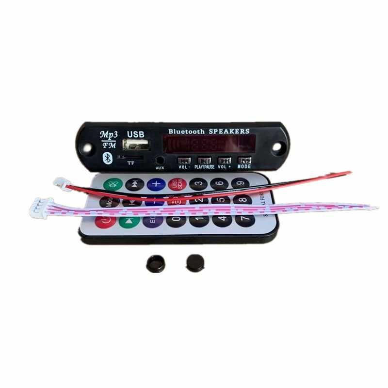 ドロップシップ自動車ラジオ Bluetooth 5.0 カーキットのための MP3 プレーヤーデコーダボードカラー画面 FM ラジオ TF USB 3.5 ミリメートル AUX オーディオ