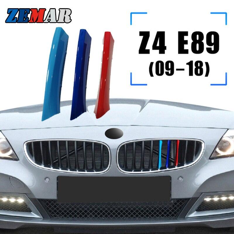 ZEMAR 3 шт. ABS для BMW Z4 Roadster E89 E85 G29 автомобильная гоночная решетка накладной зажим м характеристики аксессуары 2017 2018 2019 2020