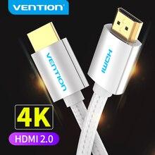 Vention HDMI 케이블 4K HDMI to HDMI 2.0 hd TV Box PS4 2.0 HDMI 케이블 용 분배기 스위치 용 금도금 플러그 커넥터 케이블