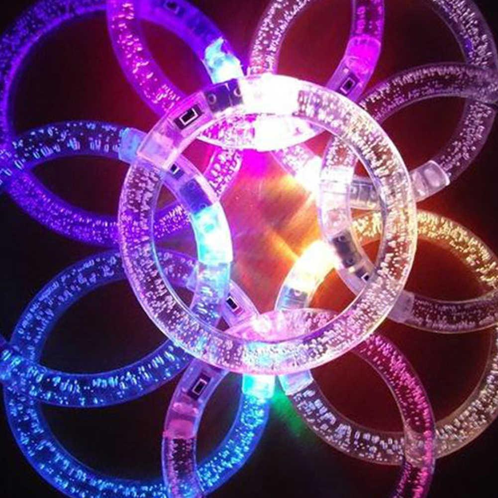 1 PC Acrylic Bubble LED กระพริบสร้อยข้อมือกำไลข้อมือ Luminous สายรัดข้อมือ PARTY Favors อุปกรณ์งานรื่นเริงปาร์ตี้