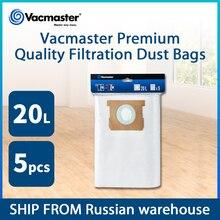Vacmaster 20L 여과 먼지 봉투 진공 청소기 액세서리 진공 청소기 가방 5 개/몫