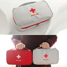 1Pc Nylon Canvas First Aid Doctor Medical Storage Bag Emergency Rescue Medicine Bag Travel Accessories Portable Handbag