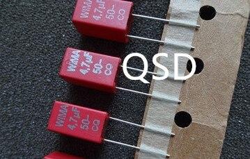 10 шт./30 шт. WIMA MKS2 4,7 мкФ/50В конденсатор 5 ммКонденсаторы    АлиЭкспресс