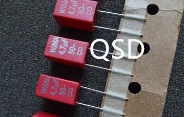 10pcs/30pcsFOR WIMA MKS2 4.7UF/50V  Capacitor 5mm
