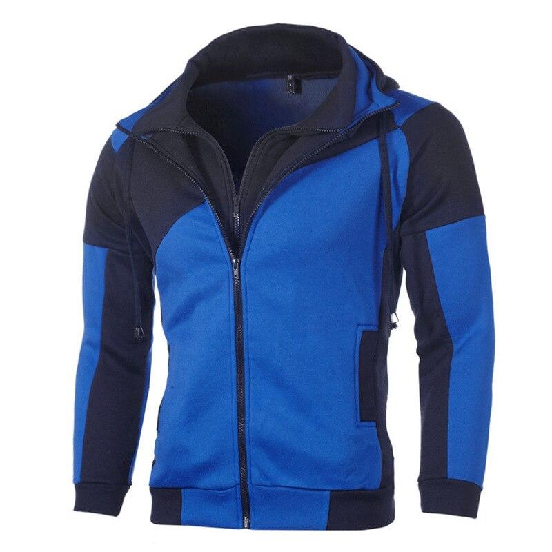 mens hoodie hoody crewneck sweatshirt men homme hoodies man street wear patchwork hoodies Casual velvet loose hooded jacket