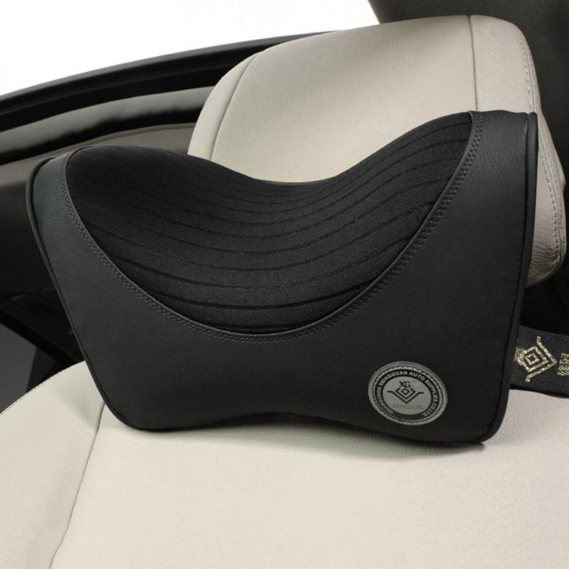 Car Headrest Neck Pillow For Seat Chair In Auto Memory Foam Cotton Cushion Fabric Cover Soft Head Rest Travel Office Support|Neck Pillow| |  - title=