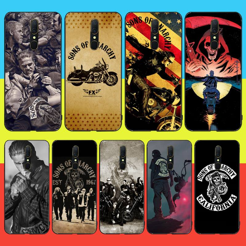 CUTEWANAN American TV Sons of Anarchy Soft Silicone Black Phone <font><b>Case</b></font> For <font><b>Oppo</b></font> <font><b>A5</b></font> A9 <font><b>2020</b></font> Reno Z Realme5Pro R11 <font><b>case</b></font> image
