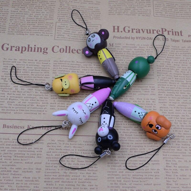 Cute Portable Small Wood Cartoon Animals Ball Pen Creative Mini Ballpoint Pen Kids Gift Korean Write Stationery
