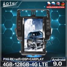 128GB For Toyota Land Cruiser Prado 150 2010-2013 Tesla Big Screen Android 9 Car Radio Multimedia DVD Player GPS Navigation Unit