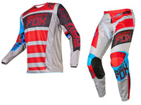 2016 Racing 180 Falcon Jersey & Pant Combo Men's Motocross/MX/ATV Dirt Bike off road Race Gear Grey Red