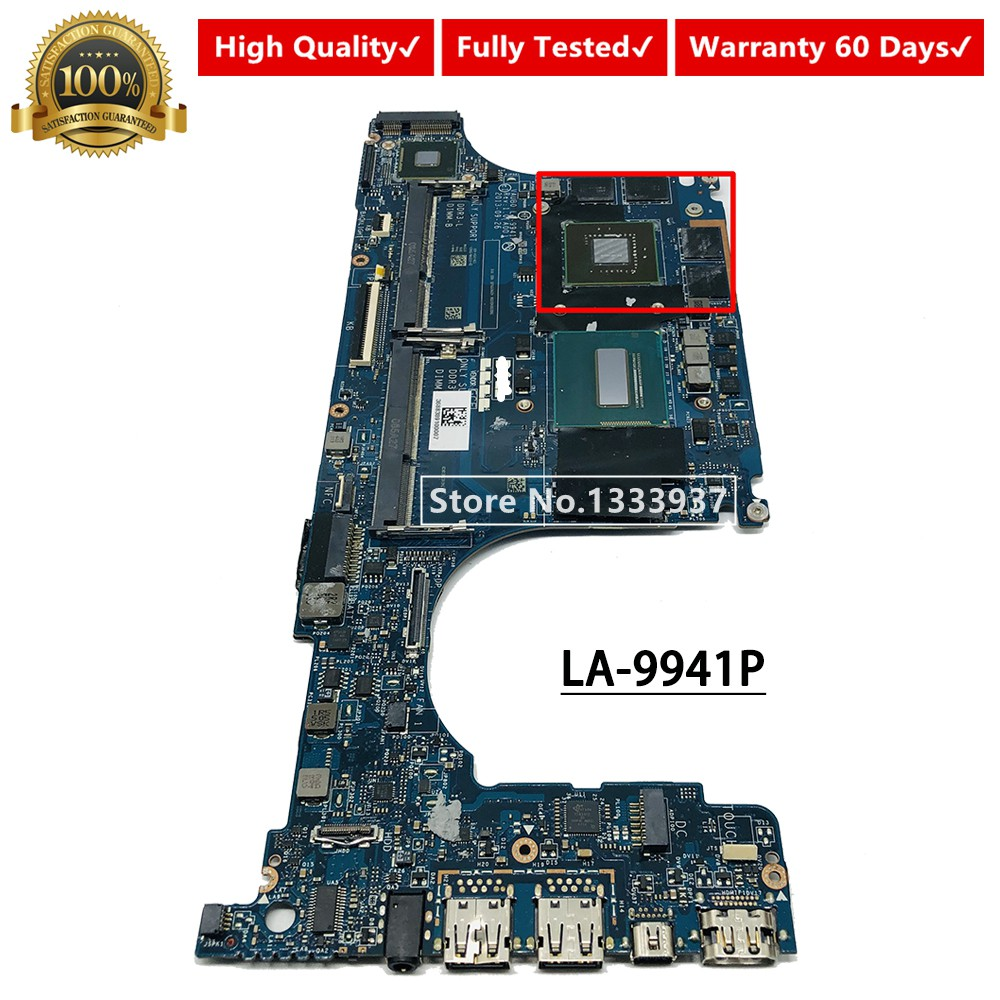 For XPS 15 9530 Laptop Motherboard CN-0R99XN VAUB0 LA-9941P With SR1PZ I7-4712HQ CPU GT750M 2GB 100% Full Tested Mainboard