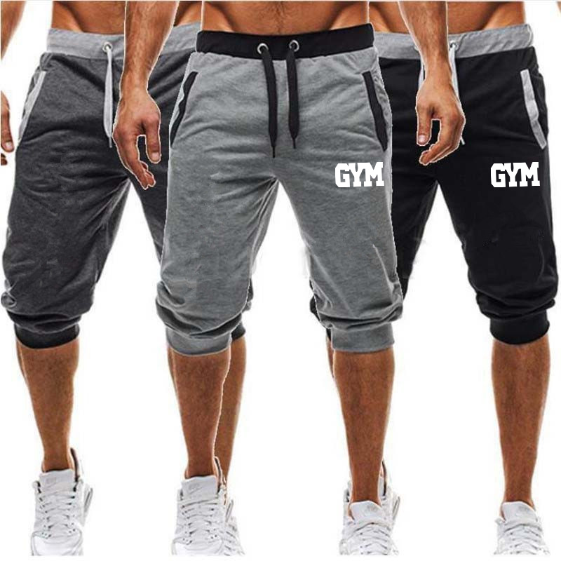 New Men Baggy Jogger Casual Slim Harem Shorts Soft 3/4 Trousers Fashion New Brand Men Sweatpants Summer Comfy Male Shorts