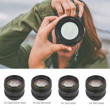 Kamlan 50mm f1.1 II APS C Large Aperture Manual Focus Lens for Canon M/Sony E/Fuji X/M43 Mirrorless Cameras Lente para celular