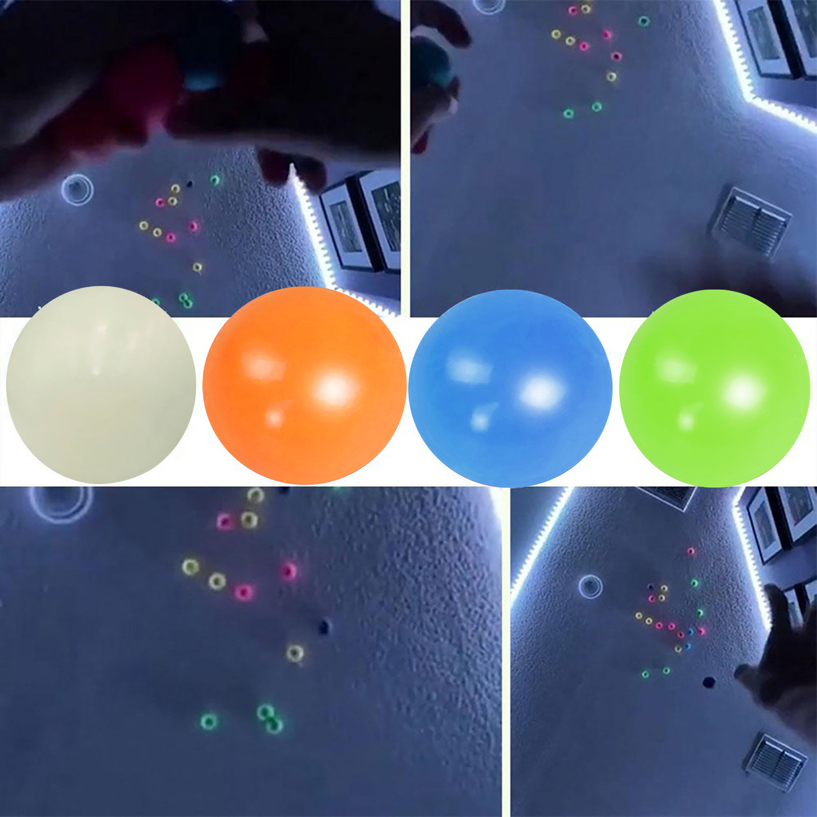 Wall-Ball Toy Decompression-Toys Sticky-Balls-Stress Reliever Kids Luminous Christmas-Gift img4