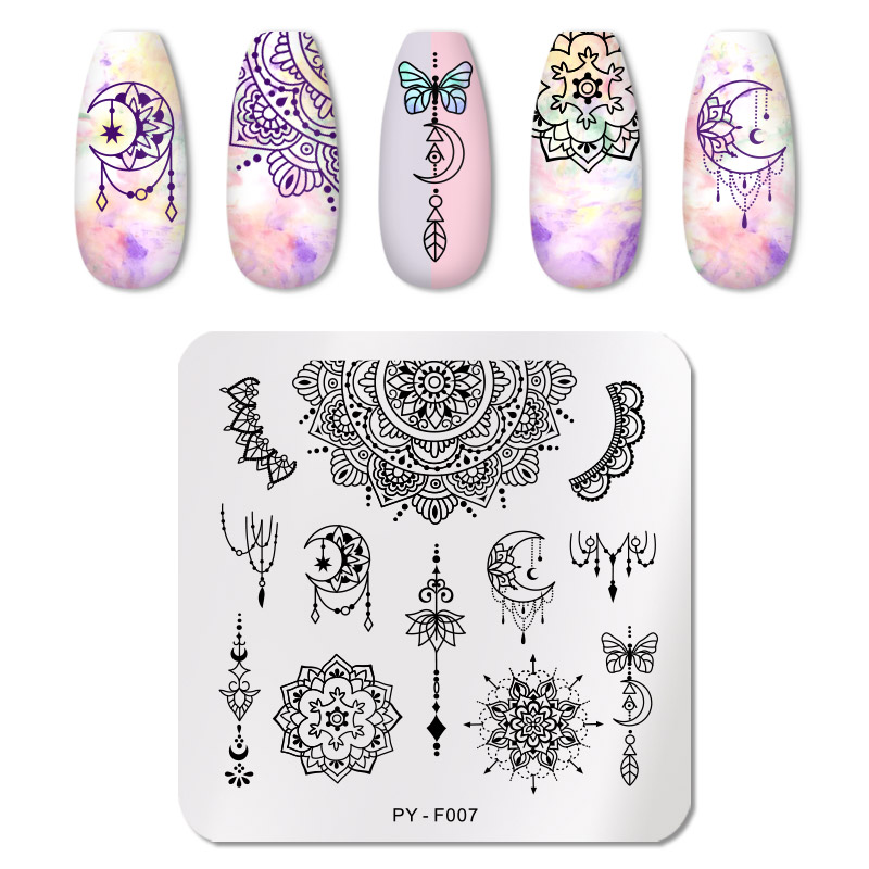 PICT YOU 12*6cm Nail Art Templates Stamping Plate Design Flower Animal Glass Temperature Lace Stamp Templates Plates Image 76