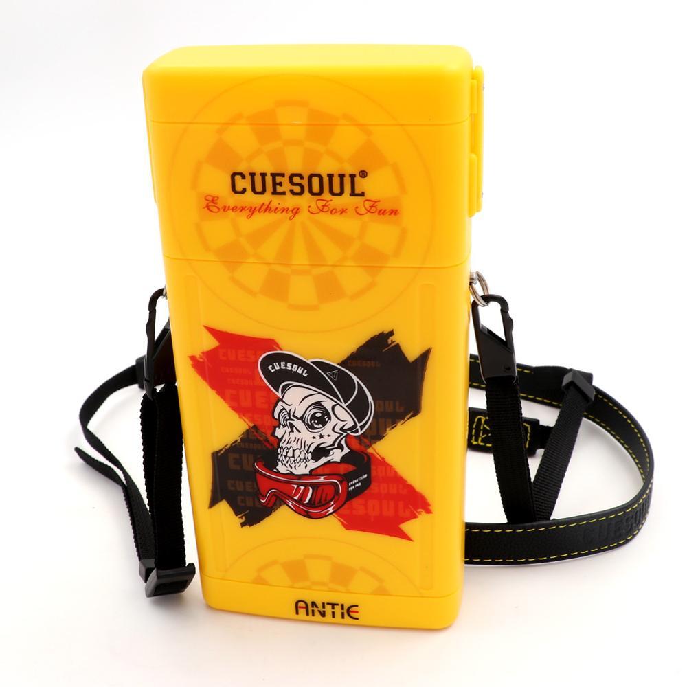 CUESOUL ANTIE Hard Dart Case,Holds 6 Steel Tip Darts/Soft Tip Darts & Extra Dart Tips,Shafts & Flights,Durable Use
