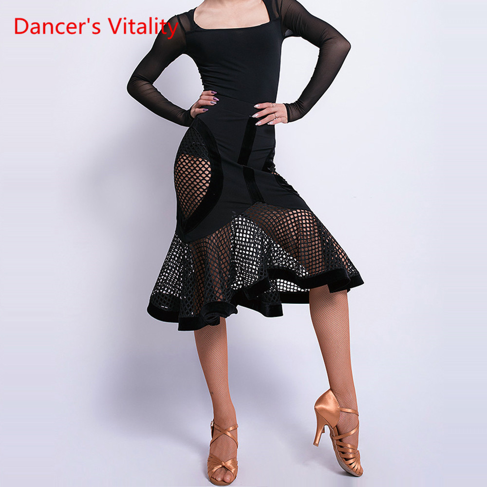 Latin Dance New Skirt Female Adult Skirt Sexy Performance Dance Costume Professional Competition/Performance Clothes