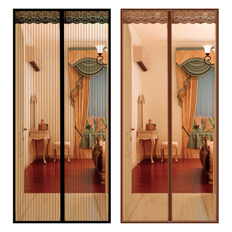 large size anti mosquito curtain door net with magnet hands free magnetic anti fly insect mosquito curtain mesh for door screen