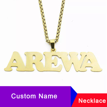Personalized Name Necklace For Women Stainless Steel Signature Customized Collier Punk Style Custom Jewelry Accessories