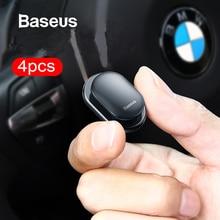 Baseus 4 шт./лот, автомобильные крючки, органайзер, вешалка для хранения, для USB кабеля, наушников, ключей, для хранения, автомобильные аксессуары, автомобильный клей, крючок, вешалка