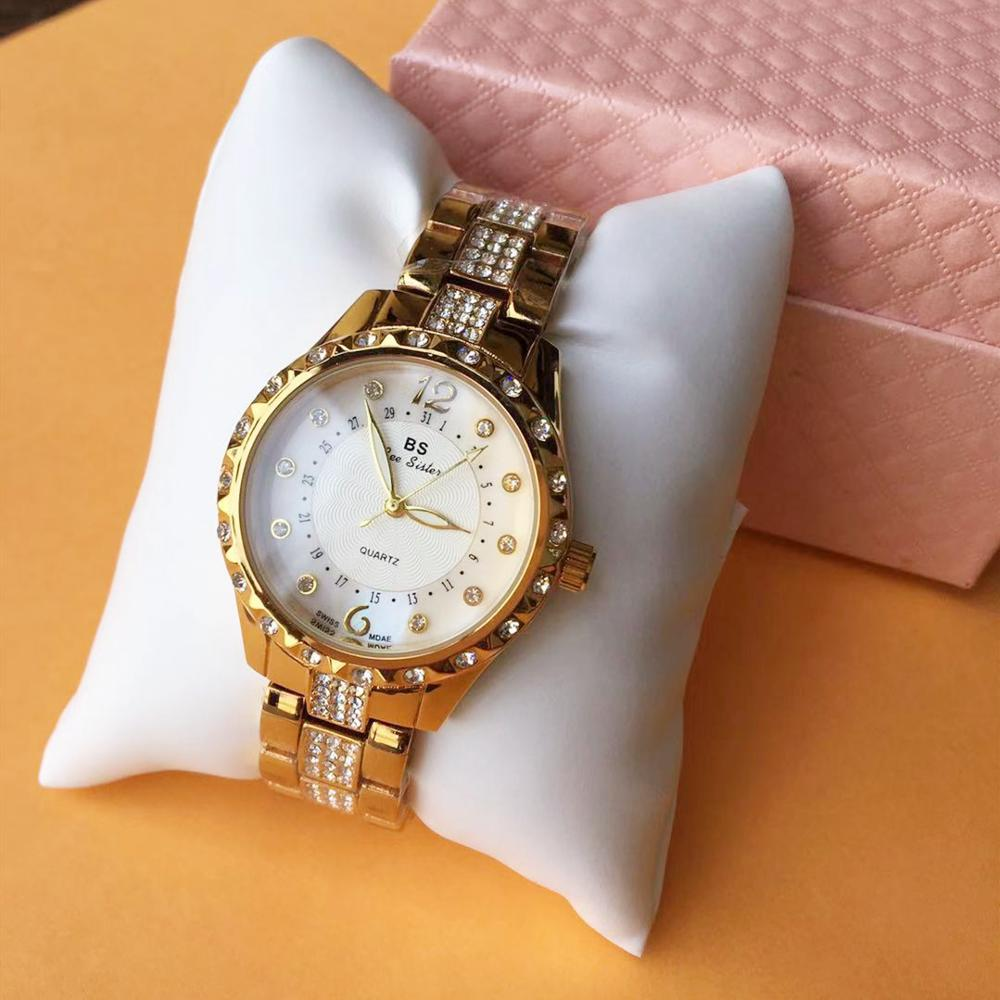 Fashion Diamond Woman Quartz <font><b>watch</b></font> stainless steel <font><b>watches</b></font> Rose gold Clock relogio feminino Lady Wristwatch Female reloj mujer image