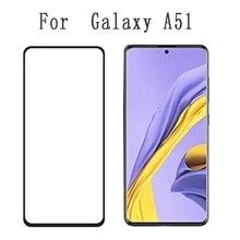 10Pcs מלא כיסוי מזג זכוכית עבור Samsung Galaxy A51 A71 A91 A70S A50S M10S מלא דבק מסך מגן סרט מגן זכוכית