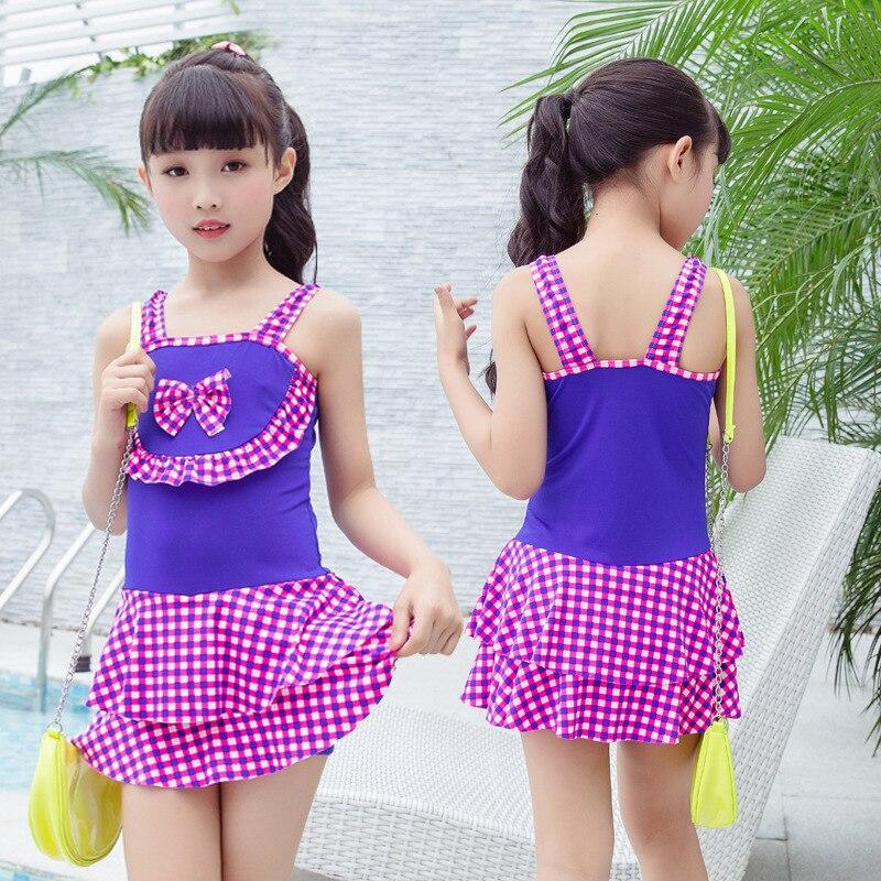 One-piece Swimsuit For Children Girls Boxer Skirt Children Big Kid Princess Skirt Beach Swimwear Wholesale Women's Hot Springs C