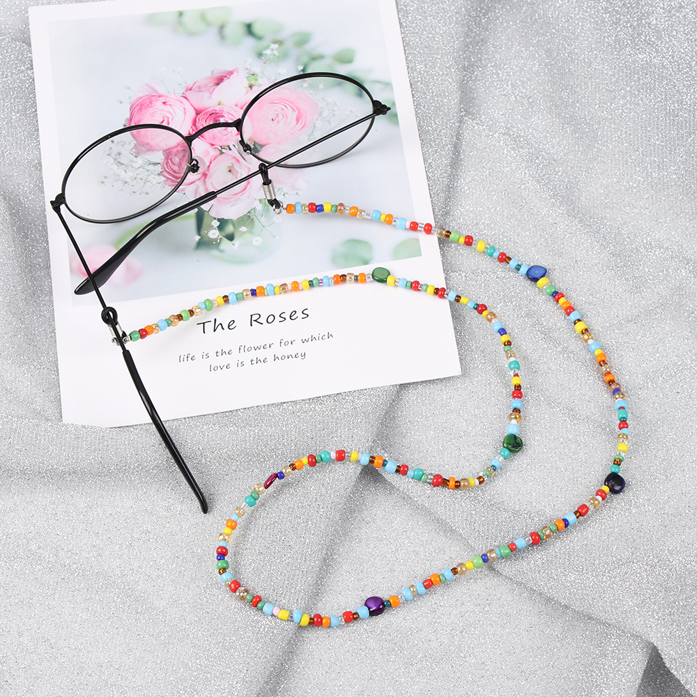 1PC Colored Beads Glasses Chain Eyeglass Lanyard Sweet Neck Strap Rope Glasses Necklace New Fashion Women Eye Wear Accessories