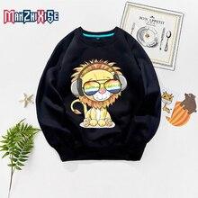 Limited Time Discount Kids New Cartoon Cute Lion Printing Sweatshirts Long Sleeve Hoodies Boys Clothing Girls Autumn Hoodie