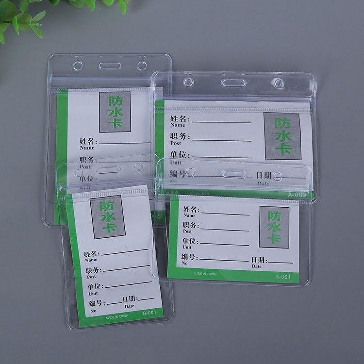 Прозрачный защитный чехол из ПВХ для автобусной карты, защитный чехол для студенческих банковских карт, защитный чехол для ID-карт, бейдж с м...