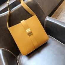 купить Kafunila genuine leather designer bags famous brand women bags 2019 large high quality Shoulder bucket tote Bag bolsa feminina по цене 4398.11 рублей