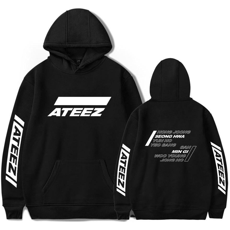 ATEEZ Logo Hot Quality Kpop Printed Hoodies Sweatshirt Ouewear Soft Pullovers Casual Harajuku 2019 New Team Korean Sweatshirt