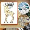 Meian peinture Diamant Diamant ange wapiti, broderie complète 5D avec perles, kit de mosaïque, forme spéciale avec animaux, DP