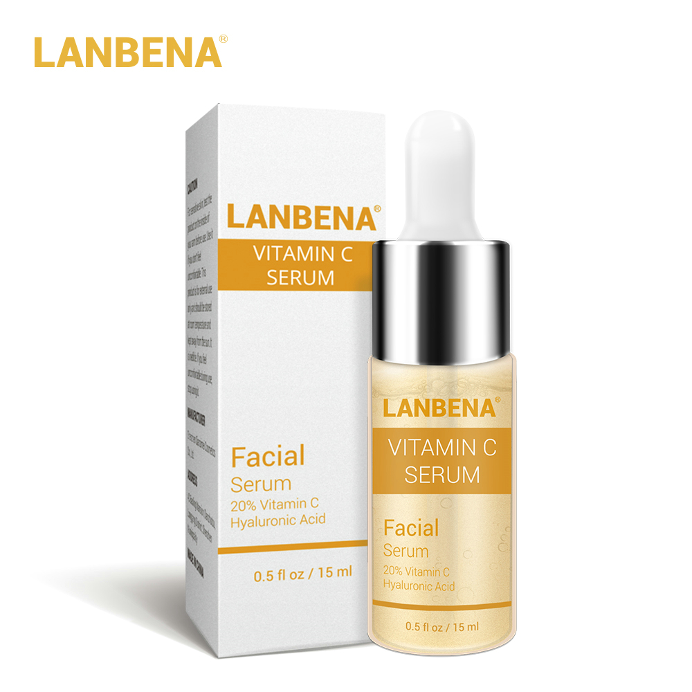 Vitamin C Whitening Serum LANBENA Facial Hyaluronic Acid Remove Freckle Dark Spots Black Points Labena Anti-Aging Lambena Charms