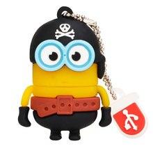 cartoon yellow minions series usb flash drive 4GB 8GB 16GB pen 32GB 64GB 128gb Creative memory stick Pendrive 2.0